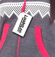Loomiloo® Jumpsuit Onesie Overall als Freizeitanzug Hausanzug Trainingsanzug Pyjama für Damen und Herren (M/L, Dunkelgrau) - 4