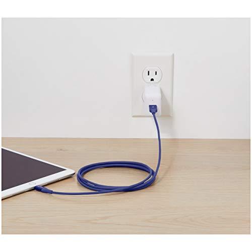 Amazon Basics - Lightning-auf-USB-A-Kabel, Premium-Kollektion, 1,8 m, 1er-Pack - Blau