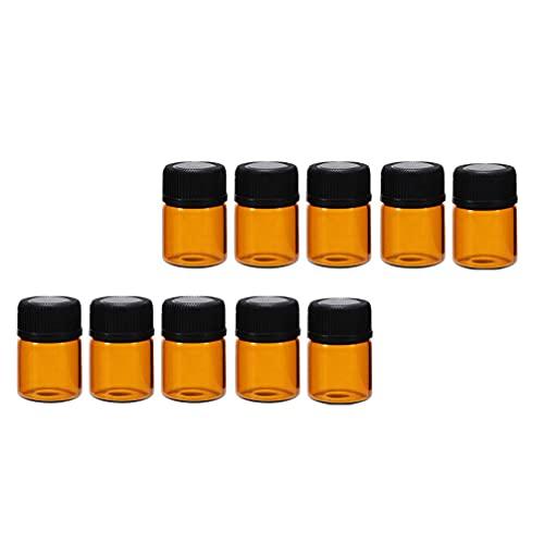 Minkissy 24Pcs Bottiglie di Olio Essenziale di Vetro Penna di Estratto di Vaniglia Oli Essenziali A Base di Erbe Medicina Bottiglie di Erogazione per Fatti In Casa di Cerimonia Nuziale