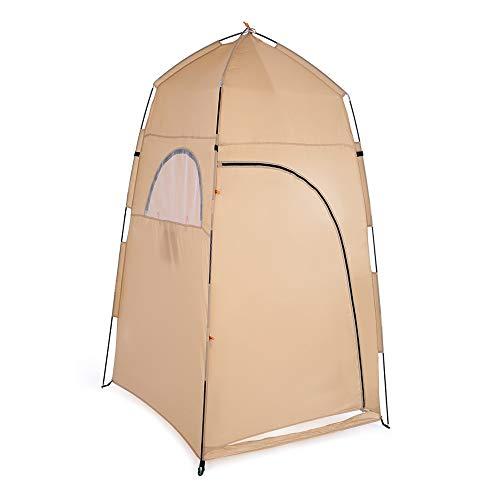 Tienda de Ducha Portátil Ducha al Aire Libre Baño Cambio de Ajuste Sala de Carpa Refugio Tenting Playa Privacidad WC (Color : Khaki)