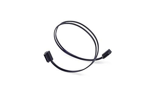 SilverStone SST-CP11-300 - SATA III 6 Gbps Kabel, ultra-dünn, um 90° abgewinkelte Anschlüsse, 30 cm, schwarz