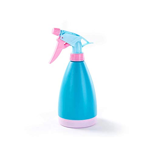 MINGZE Botella de plástico con pulverizador - Multifuncional, presión Manual, Bonsai, regadera, Olla, Spray, Botella, Boquilla Ajustable, atomizador, Herramienta de jardinería (Azul)