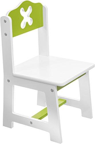 Bieco 79199202 - seggiolone Bianca/Verde sede circa 26 x 26 cm