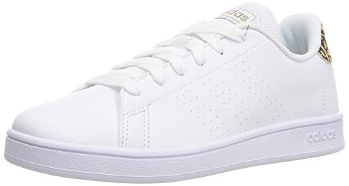 adidas Advantage K, Zapatillas de Tenis Unisex Adulto, FTWBLA/FTWBLA/BEIBRU, 39 1/3 EU