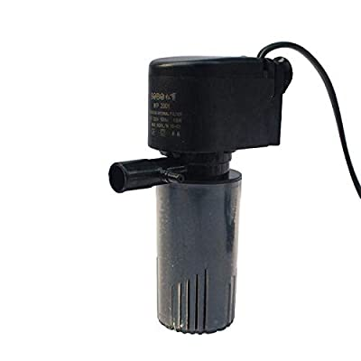 yanhe Aquarium Internal Filter Fish Tank Filter,15W-880L/H Aquarium Filter Pump Submersible Fish Tank Water Pump Air Pump (15W,880L/H)