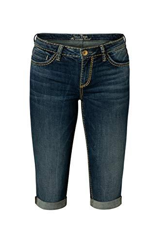 SOCCX Damen Skater Jeans RO:My mit Used-Effekten