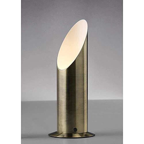Inspired Deco - Indio - Encendedor para lámpara de mesa con interruptor en línea GU10 Latón envejecido