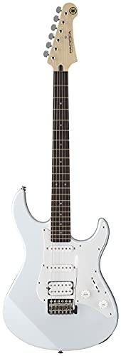 Yamaha Pacifica 012 Guitarra Eléctrica 4/4 de madera, 64.77 cm, escala 25.5 pulgadas, 6 cuerdas, selector pastillas de 5 posiciones, Color Blanco