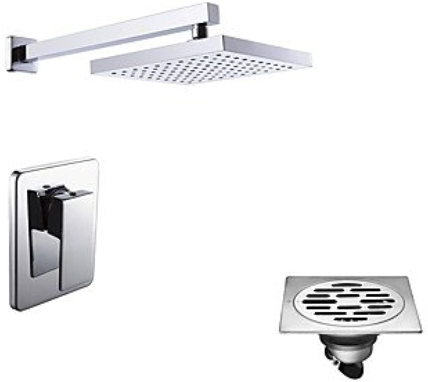 Comtemporary Shower Only Rain Shower with Ceramic Valve One Hole for Chrome , Shower Faucet
