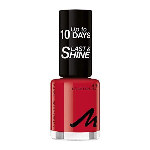 Manhattan Last und Shine Nagellack, Nr.610 It\'s Gettin\' Hot, 1er Pack (1 X 10 ml)
