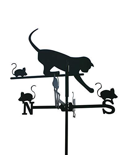 SvenskaV Deko-Wetterfahne schwarz Katze