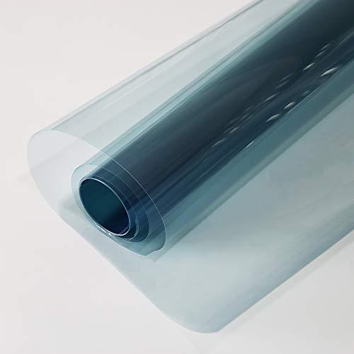 MEGICOLIM 80% VLT Nano Ceramic Win dow Film 99% Anti UV Front Car Solar Windshield Rear Side Window Tint, Light Blue, 60Inch X 16.5Feet