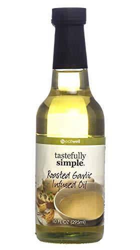 Tastefully Simple Roasted Garlic Infused Oil, 10 Ounce