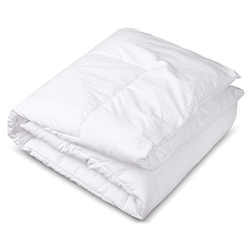 CIRCLESHOME Edredón para cuna y cama, 100% algodón, hipoalergénico y transpirable, color blanco