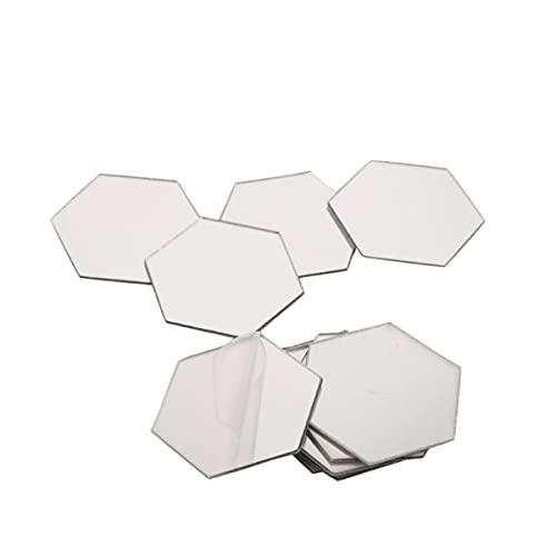 Spiegel Sticker Set – Zilverkleurig – 18 x 16 cm – Waterproof