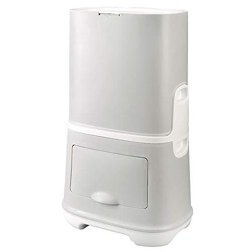 Papelera de basura de estilo japonés Creativo Simple Ecológico Baño Cocina Gap Press Combinación de basura-grey