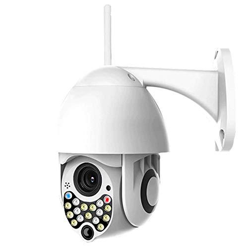 Cámara De Seguridad para Exteriores con Visión Nocturna En Color, 1080P PTZ Cámara CCTV Cámara De Vigilancia Seguridad En El Hogar con 355 ° Panorámica 90 ° Rastreo