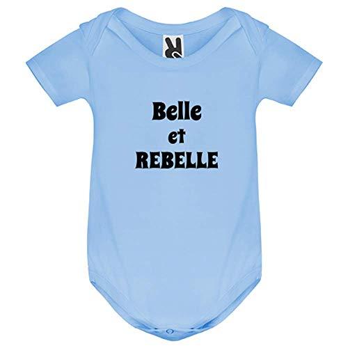 LookMyKase Body bébé - Belle et Rebelle - Bébé Garçon - Bleu - 18MOIS