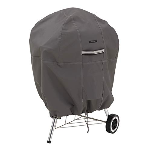 Classic Accessories, 55-178-015101-EC, Ravenna Water-Resistant 26.5 Inch Kettle BBQ Grill Cover, Taupe, Medium