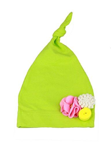 Bestknit pour bébé Infant Fille Garçon Unisexe en tricot stretch Nœud Bonnet Photo Prop - Vert - taille unique