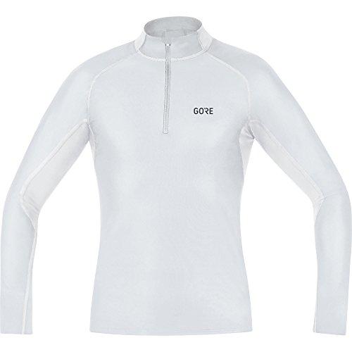 GORE WEAR Herren M WINDSTOPPER BaseLayer Thermo Stehkragenshirt, Light Grey/White, M-L