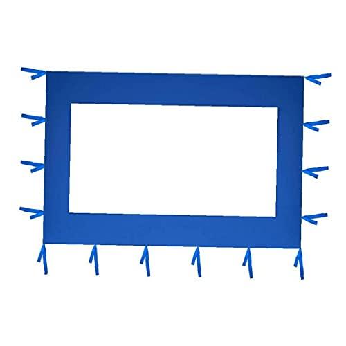 Ohomr Carpa Panel Lateral Impermeable reemplazo Refugio Heavy Duty Toldo Lateral (300x205cm Azul)