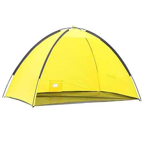 Semoo - Spring-auf-Strandmuschel - selbstaufbauendes Strandzelt für 1 Person - Pop Up - Gelb