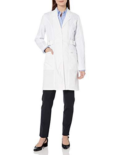 Bata de laboratorio Dickies para mujer, de Genflex, 91,44 cm - Blanco -