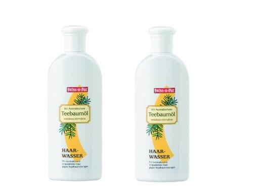 Swiss-o-Par Teebaumöl Haarwasser 500ml (2 x 250ml), gegen Kopfreizungen, Schuppen und fettiges Haar