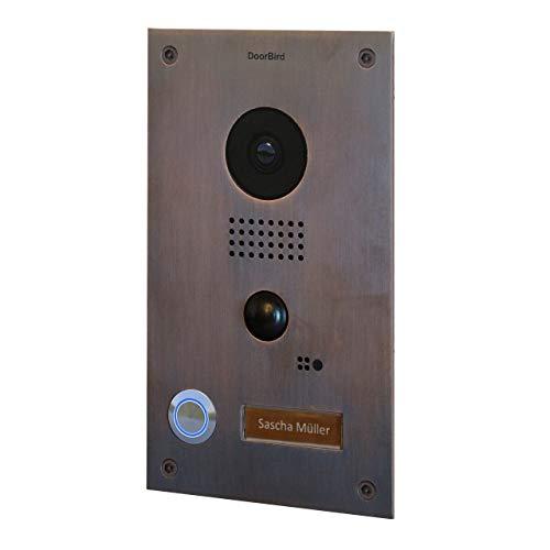 DoorBird D202B Bronce sistema de intercomunicación de video - Sistemas de intercomunicación de video (Bronce, IP54, Acero inoxidable, Botones, Vertical, Exterior)