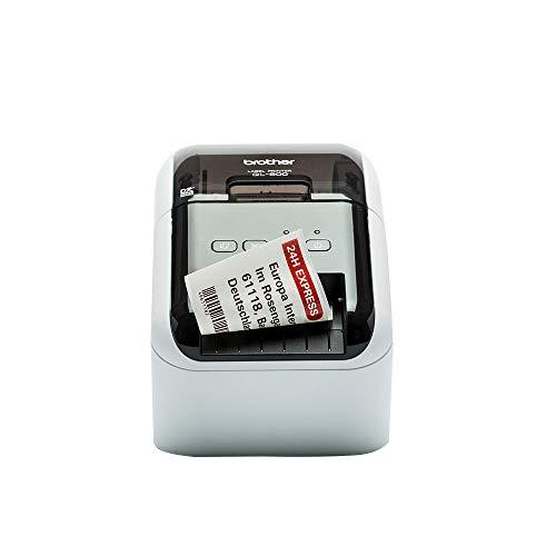 Brother QL-800 Label Maker, USB 2.0, Address Label Printer, Desktop, Up to 62mm Wide Labels, Red & Black Printing