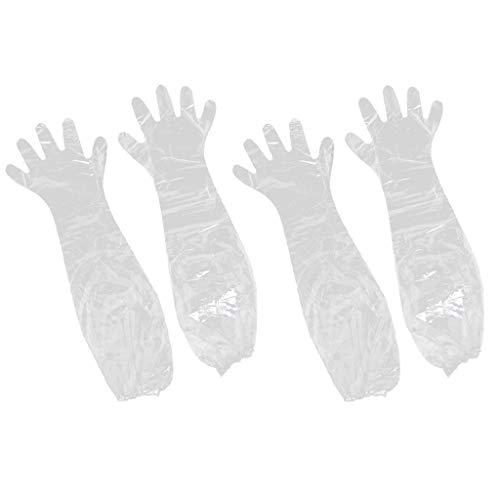 harayaa 2 Pairs of Disposable 75 Cm Long Waterproof Gloves for Women Men