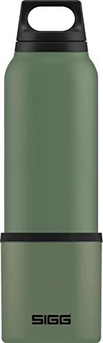 SIGG Hot & Cold Green Leaf Thermo Trinkflasche (0.75 L), schadstofffreie und isolierte Trinkflasche, auslaufsichere Thermo-Flasche aus Edelstahl
