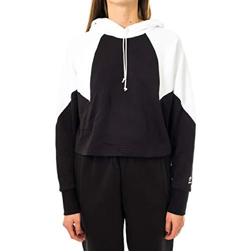 adidas Damen Sweatshirt Crop LRG Logo Hoodie 32