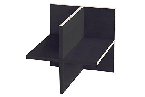 Ikea Kallax Expedit Regal Einsatz ganze Fachlänge Regalkreuz Fach Fachteiler mit Rückwand Aufbewahrung Handtuchregal Physiotherapie Wolle lagern Regaleinsatz 33,5 x 33,5 x 38 cm Farbe Schwarzbraun Schwarz