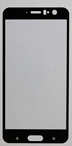 3X Full Cover Schutzglas für HTC U11 in Schwarz Glasfolie 9H 5D 6D 9D Displayschutzfolie Glass Premium Tempered Glass Protection (kein 3D Glas)