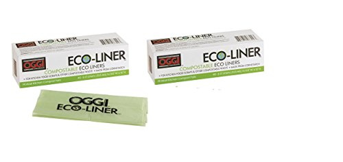 Great Deal! Oggi Eco-Liner Compost Pail Liners, 2 packs of 40 each. 80 total.
