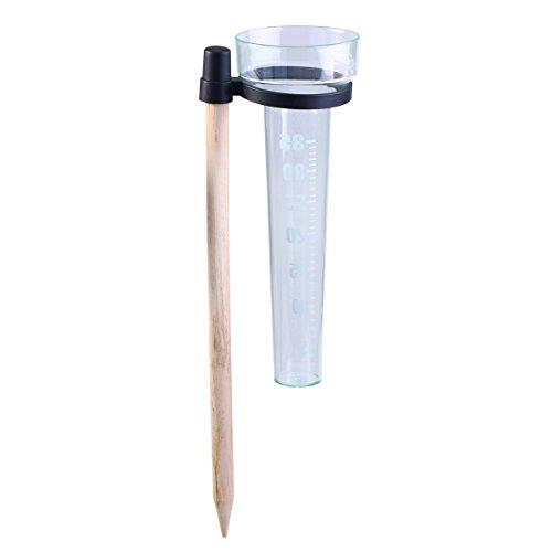OUNONA Regenmesser Ersatzrohr PS Kunststoff Messbecher und Holzstäbchen für Garten im Freien