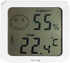 SNOWINSPRING HigróMetro Digital TermóMetro de Interior Temperatura e HigróMetro TermóMetro de Sala de Vigilancia HigróMetro de Pantalla Blanco
