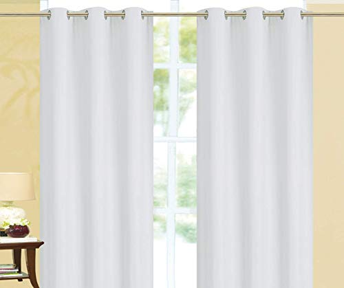 Empire Home Elizabeth 100% Solid Blackout Window Curtains Thick Single Panels - Overstock Sale!! (White, 63' Short)