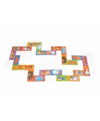Andreu Toys- Domino Puzzle Zoo Pals, Color (Multicolor) (MD3044)