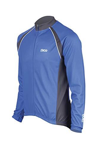 EIGO Logic Maillot de Cyclisme à Manches Longues pour Homme Bleu Taille M