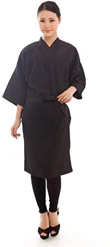 Salón de peluquería Cliente Vestido Kimono Style - 43Long (Negro)