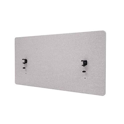 Mendler Akustik-Tischtrennwand HWC-G75, Büro-Sichtschutz Schreibtisch Pinnwand, doppelwandig Stoff/Textil - 120x60cm grau