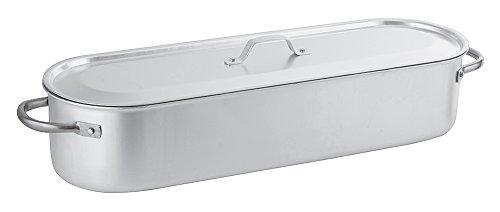 Paderno 16939-60 Pesciera con Griglia Coperchio, 60 cm, Alluminio