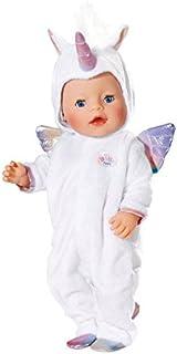 Zapf Baby Born Onesie Unicorn Pelele de muñeca - Accesorios para muñecas (Pelele de muñeca, 3 año(s), Rosa, Blanco, Baby Born, Chica, 43 cm)