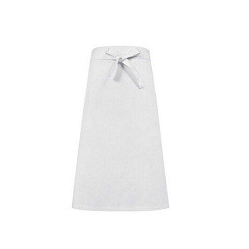Nanxson(TM Tablier Unisexe Long Professionnel Noir Blanc Pour Bistrot/Hôtel/Cuisine AL8039 (blanc)