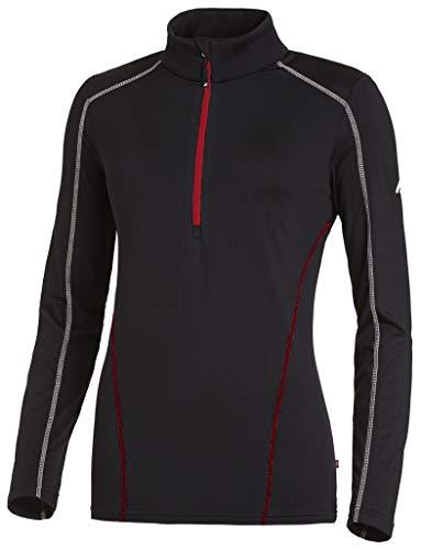 Medico Damen Skishirt Funktionsshirt Sportshirt Langarm Schwarz/Weiß/Rot - 40