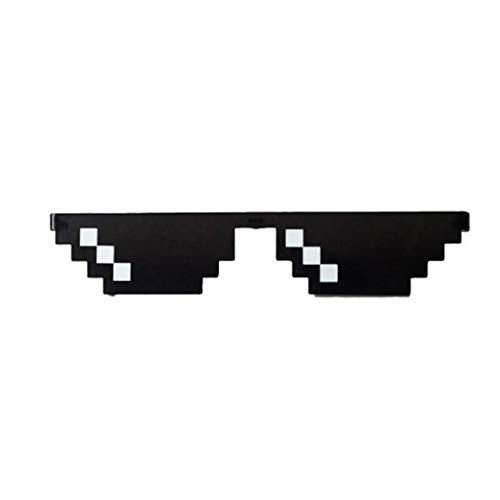 Funnyrunstore Creative Mosaic Pixel Glasses Gafas