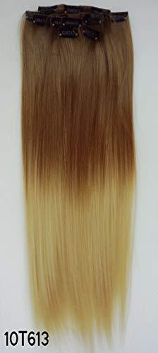 WIG MINE Pince transparente de sept pièces dans le clip de dégradé bicolore d'extension de cheveux Clip invisible invisible dans la rallonge de cheveux mat réaliste, 10T613
